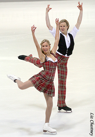 2009 Nebelhorn Trophy. These are the costumes Mark and I wore for our OD at the 2010 World Championships. (Photo by Liz Chastney)