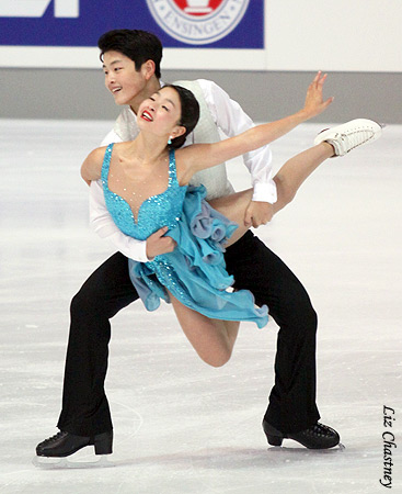 Mai and Alex Shibutani performing their free dance at the 2010 Nebelhorn Trophy. (Photo by Liz Chastney