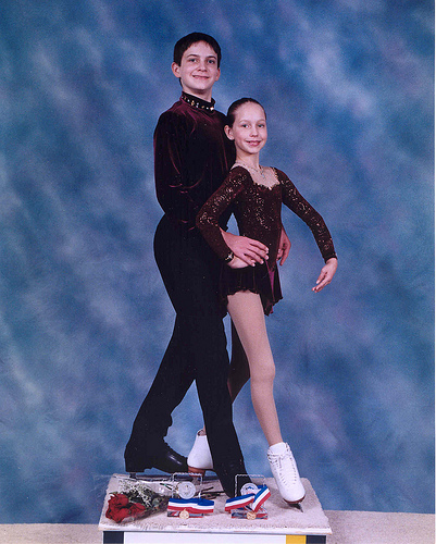 Will (15) and Christina (10) Chitwood after winning Southwestern Regionals in Intemediate Pairs, 2000.