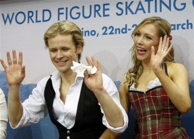 Competition Makeup at the 2010 World Figure Skating Championships - Mark Hanretty and Christina Chitwood (AP Photo Antonio Calanni)