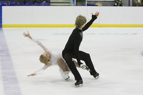 Christina Chitwood and Mark Hanretty performing their free dance at British Nationals 2008