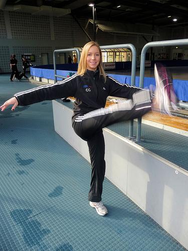 Christina warming up for the 2009 NRW Trophy, Dortmund, Germany