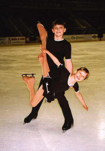 Will (13) and Christina (8) Chitwood at 1998 Broadmoor Open Practice Session