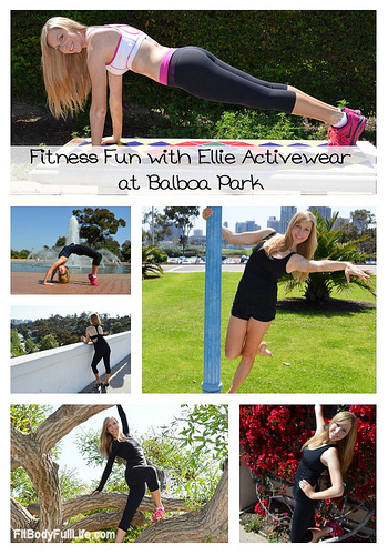 Fitness Fun with Ellie Activewear at Balboa Park