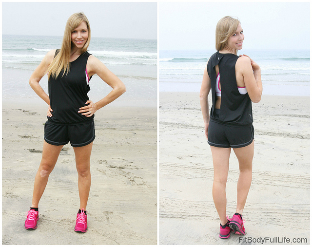 Christina modeling the Ellie Under Your Spell Sports Bra and Peek-a-Boo Tank