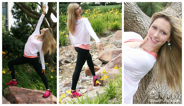 Christina Modeling Ellie's It Takes Two Top and Little Black Legging