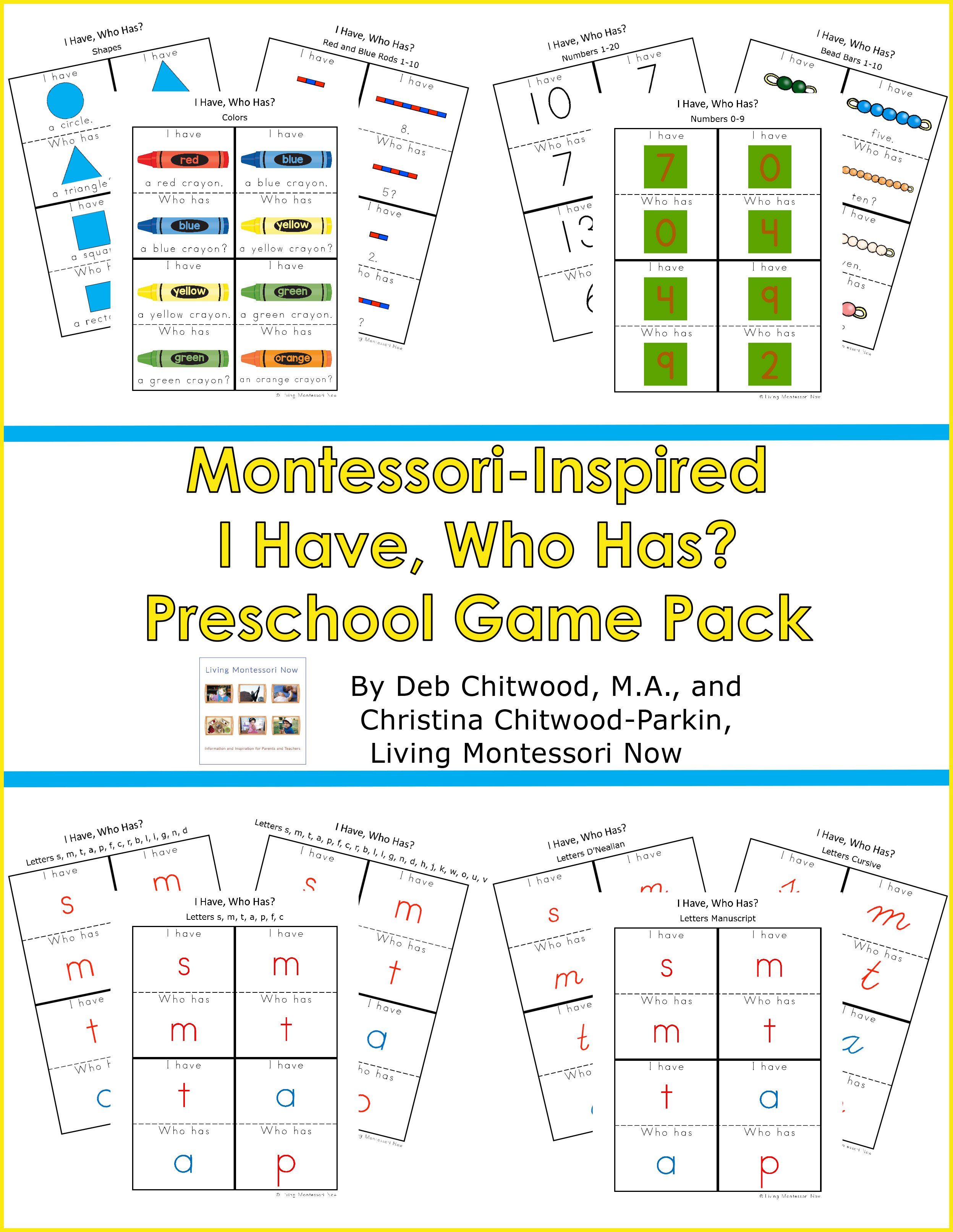 Montessori-Inspired I Have, Who Has Preschool Game Pack