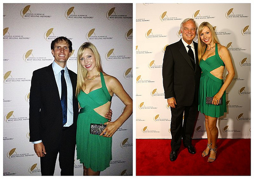 Tom and Christina and Jack Canfield and Christina at the First Red Carpet Event
