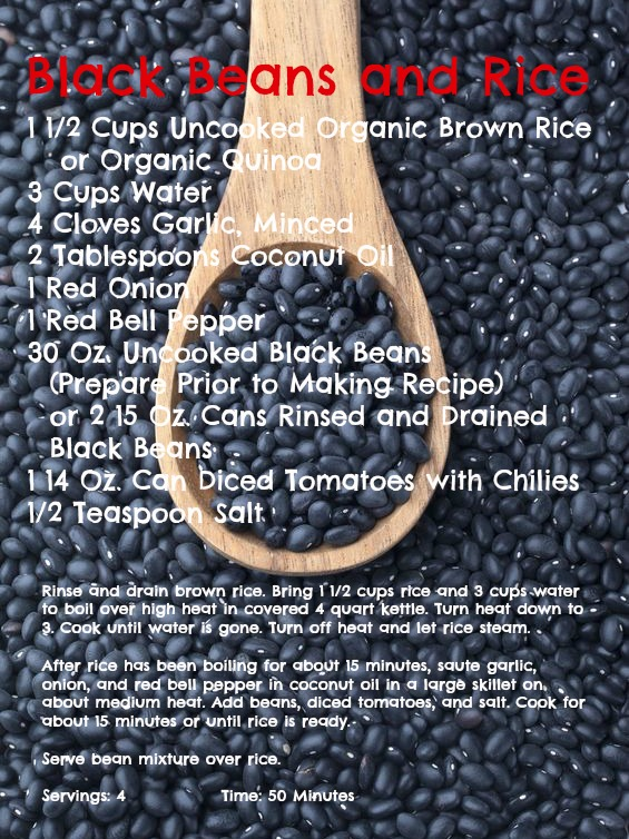 30-Day Nutrition Challenge - Black Beans and Rice Recipe