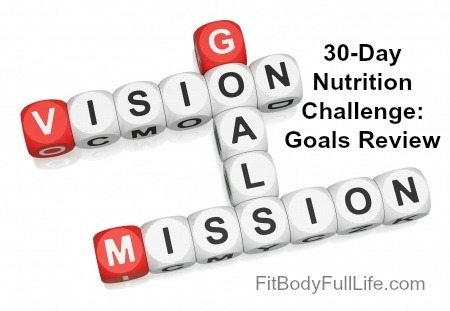 30-Day Nutrition Challenge: Goals Review