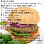 30-Day Nutrition Challenge: Lentil Burger Recipe