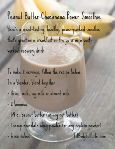 30-Day Nutrition Challenge - Peanut Butter Power Smoothie