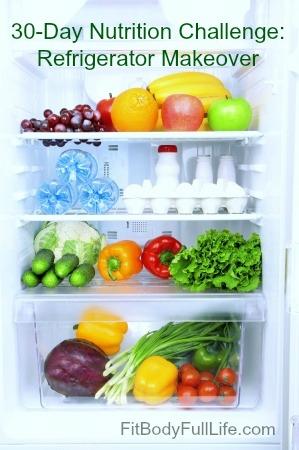 30-Day Nutrition Challenge Refrigerator Makeover