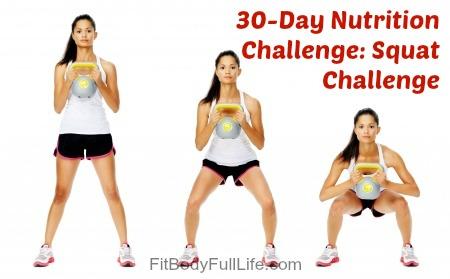 30-Day Nutrition Challenge Squat Challenge