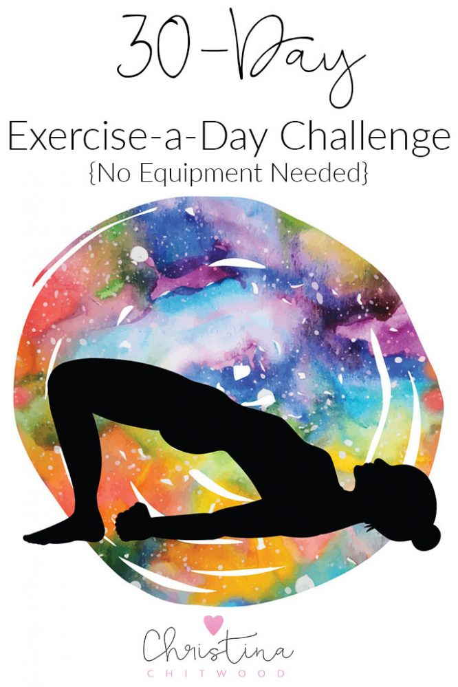 30-Day Exercise-a-Day Challenge {No Equipment Needed}