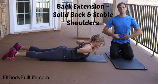 Back Extension - Solid Back Stable Shoulders