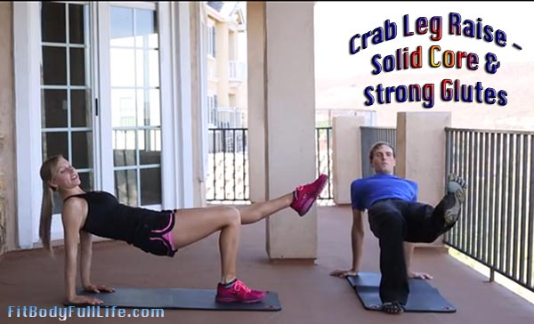Crab Leg Raise - Solid Core, Strong Glutes