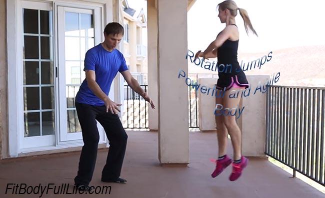 Rotation Jumps - Powerful Agile Body