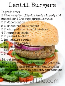 30-Day Nutrition Challenge Lentil Burger Recipe