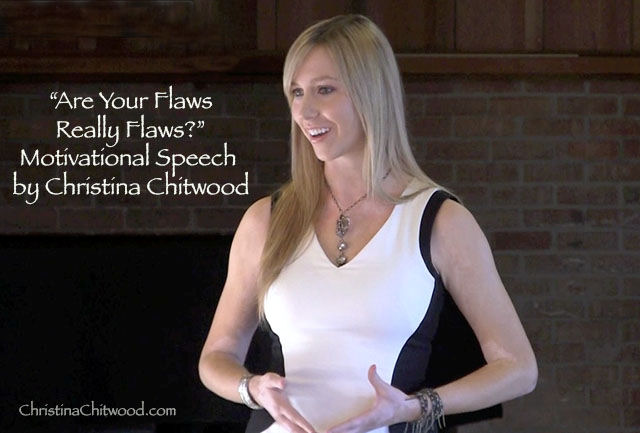 """Are Your Flaws Really Flaws?"" Motivational Speech"