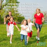 Free Printable – Active Families = Happy Families! Word Art