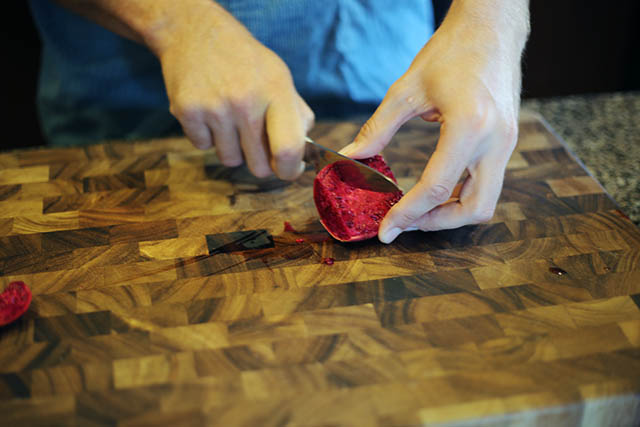Cutting Cactus Pear