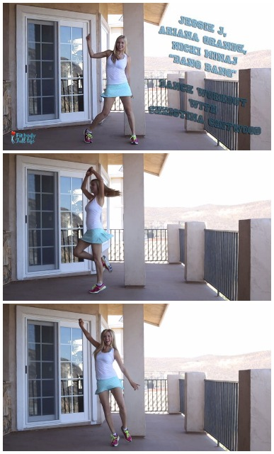 "Jessie J, Ariana Grande, Nicki Minaj ""Bang Bang"" - Dance Workout with Christina Chitwood - Vertical Collage"