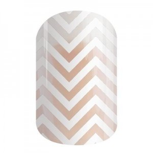 White Chevron Jamberry Nail Wraps