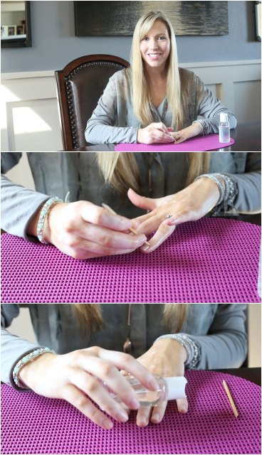 Pushing Your Cuticles Back Using Coconut Oil - Prep for Jamberry Nails with Christina of CCP