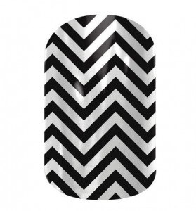 Black and White Chevron - CN02 - Jamberry Nail Wraps