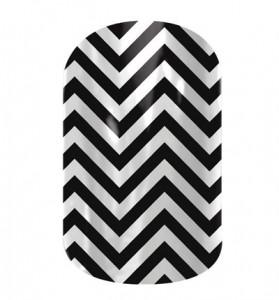 Black and White Chevron - CN02 - Jamberry Nail Wraps