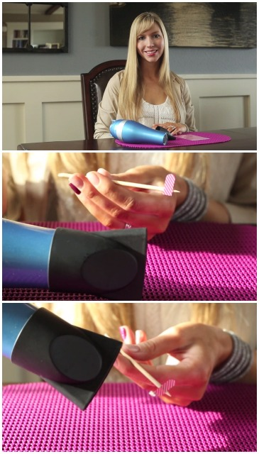 Heating Jamberry Nail Wraps Using a Hair Dryer with Christina of CCP - Vertical Collage