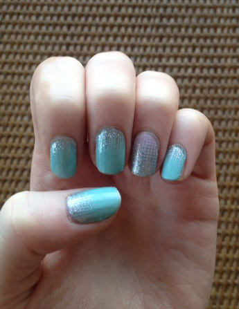 Iced with Fade In Jamberry Nail Wraps - Christina Chitwood Performance