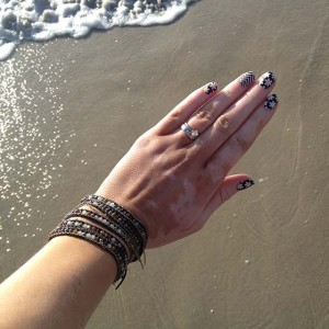 Simply Daisy with Black and White Chevron Jamberry Nails - Christina Chitwood Performance - Christina Chitwood - Square