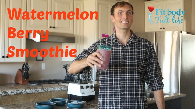 Watermelon Berry Smoothie Recipe Video