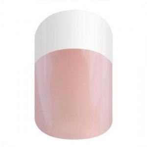 White Pink Tint Tip Jamberry Nail Wraps
