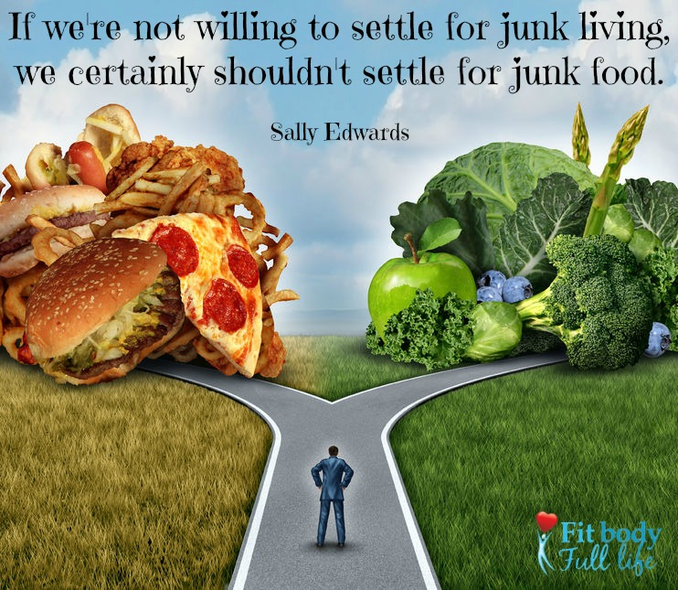 Don't Settle for Junk Food Wordart