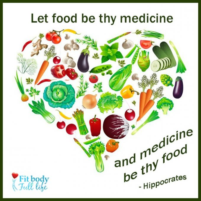 "Free Printable – ""Let Food be Thy Medicine"" Word Art"