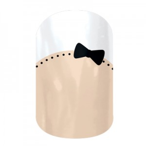 French Tip Bows - A506 - Jamberry Nail Wraps