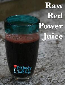 Raw Red Power Juice