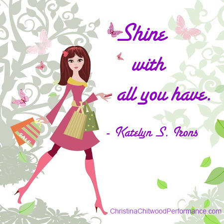Free Printable - Shine Word Art