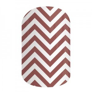 Marsala Chevron Jamberry Nail Wraps
