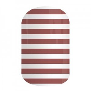 Marsala Stripe Jamberry Nail Wraps