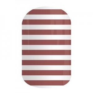 Marsala Stripe Jamberry Nail Wraps