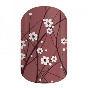 Marsala In Bloom Jamberry Nail Wraps