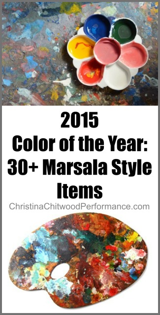 2015 Color of the Year: 30+ Marsala Style Items