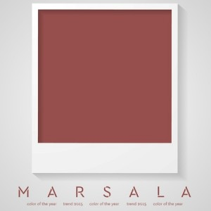 Marsala Color or the Year 2015