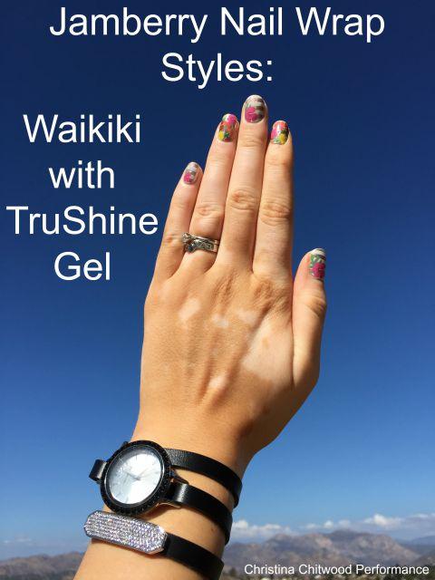Jamberry Nail Wrap Styles: Waikiki with TruShine Gel