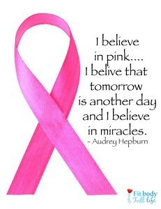 Free Printable I Believe In Pink Word Art