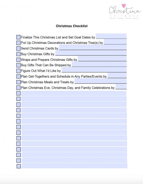 Christmas Checklist Digital Version